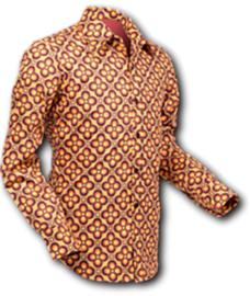 Chenaski overhemd dotsgrid orange