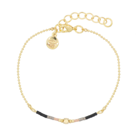 Mint 15 - Delicate Chain & Beads – Black