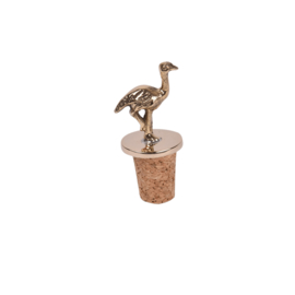 Bottle stopper Ostrich- goudkleurig