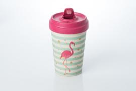 Bamboo cup Flamingo