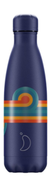 Chilly bottle Retro Blue Swirl  - 500ml