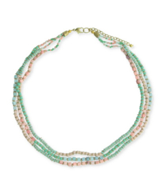 Korte ketting met pastel beads