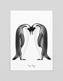 A3 Art print Keizer Pinguïns - Ferdy Remijn