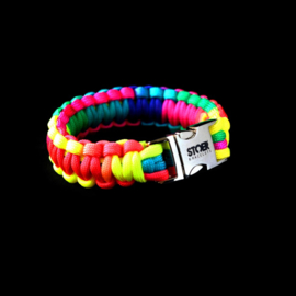 STOER Paracord armband Rainbow