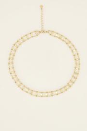 My Jewellery Choker dubbele muntjes & sterren