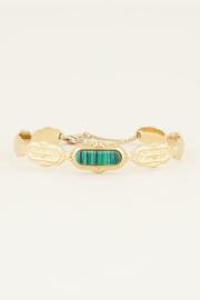 My Jewellery Bangle met groene steen