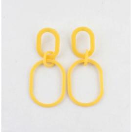 Oorbel sixties yellow