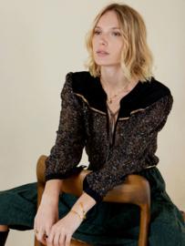 Meisïe - bohemian blouse zwart