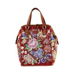 Backpack gebloemd Burgundy