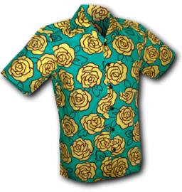 Chenaski overhemd korte mouw Yellow rose