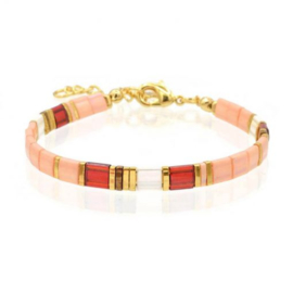 Mint 15 - Tila Bracelet – Peach & Red