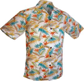 Chenaski overhemd korte mouw leaves