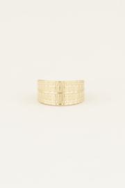 My Jewellery Brede ring met patroon