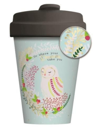 Bamboo cup Owl dreams - gold
