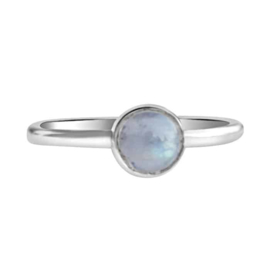 Happy hippies Ring Maansteen  sterling zilver