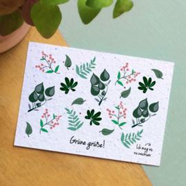 Zaaibare kaart - Grüne grüße! (bloemenmix)