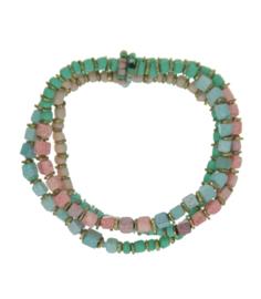 Armbandenset met pastel beads