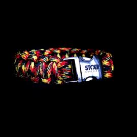 STOER Paracord armband Belgisch trots / Deutsche Stolz