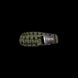 STOER Paracord armband black olive cobra