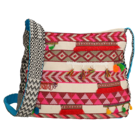 Crossbody color explosion red