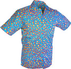 Chenaski overhemd korte mouw Strange Coloured Leo