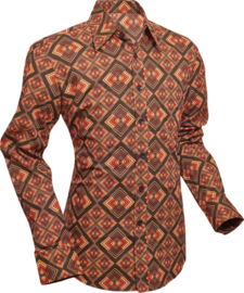 Chenaski overhemd Rhombus brown