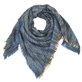 Sjaal blauw-goud