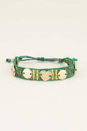 My Jewellery Groene armband bedels & kraaltjes