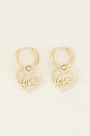 My Jewellery Oorringen hartje love