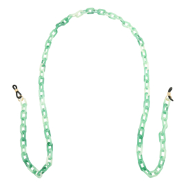 Brillenkoord schakels groen/wit