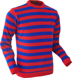 Chenaski Trui red and blue stripes
