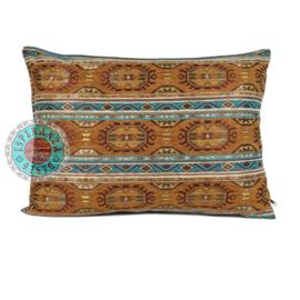 Kussen Maya camel turquoise 70x50