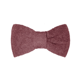 Haarband Cozy bow roze/rood