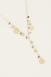 My Jewellery Ketting y-vorm kralen & muntjes