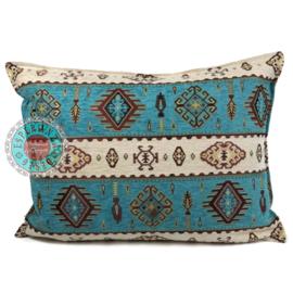 Kussen Navajo turquoise 50x70