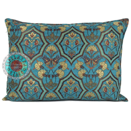 Kussen Flowers mint en turquoise 70x50
