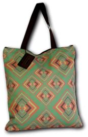 Chenaski Tote-bag Rhombus green pink