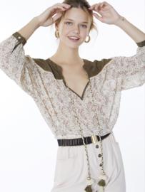 Meisïe - Bohemian blouse groen