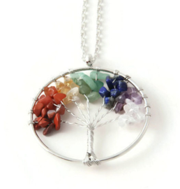 Ketting Tree of life colourful