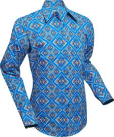 Chenaski overhemd Rhombus turquoise