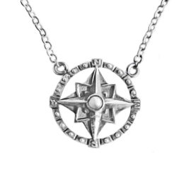 Happy Hippies  ketting Compass sterling zilver