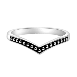 Happy Hippies Ring beaded Chevron sterling zilver