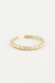 My Jewellery Ring met ribbels