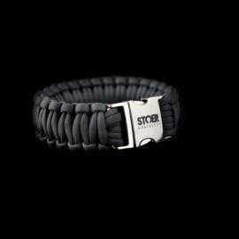 STOER Paracord armband Antraciet cobra XL