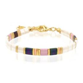 Mint 15 - Tila Bracelet – White & Lilac