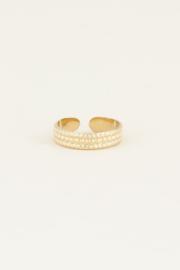 My Jewellery Ring met bolletjes patroon