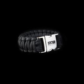 STOER Paracord armband Zwart Cobra XL
