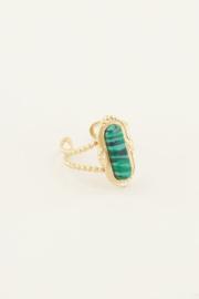 My Jewellery Ring met groene steen