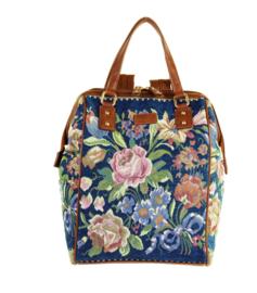 Backpack gebloemd Blauw