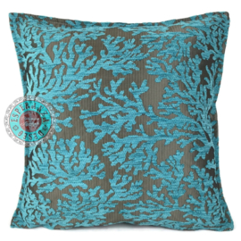 Kussen Coral turquoise 45x45